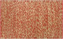 vidaXL Handgjord jutematta röd och naturlig 80x160 cm