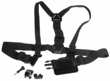 Detachable Body Chest Strap With Screw Lock For GoPro - Black