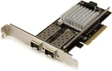 2-Port 10G Fibernätverkskort med öppen SFP+ - PCIe, Intel Chip