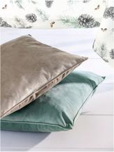 Kissenbezug aus weichem Samt Sander grün