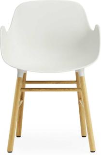 Normann Copenhagen - Form Stol Med Armlener 78x56,1cm, Hvit/Eik