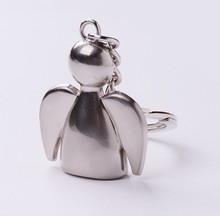 Nyckelring silverfärgad ängel skyddsängel jul present 625c6b79fc76a