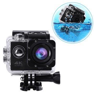 Sports SJ60 Vandtæt 4K WiFi Action Kamera - Sort