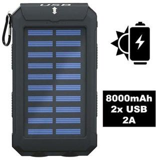 Goobay Outdoor Power Bank 8.0 / Solcelle Oplader - 8000mAh - Sort