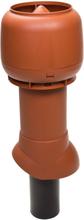 Vilpe Avloppsluftare + Hatt Isolerad 110/350 Svart/ Tegelröd