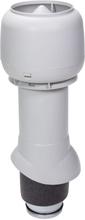Vilpe Frånluftshuv + Hatt Isolerad 125/500 Svart/ Tegelröd/ Ljusgrå