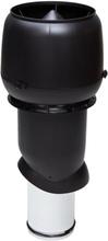 Vilpe Frånluftshuv + Hatt Isolerad 160/500 Svart/ Tegelröd/ Ljusgrå