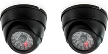 SEC24 Utendørs dummy-kamera 2 stk kuppel svart DMC430 9,5x6,5 cm