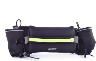 ROMIX Sport Bältesväska med hållare till vattenflaska, Storlek: 18cm(L) x 10cm(W).