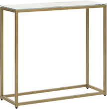 Sivupöytä marmorikuvio valkoinen/kulta DELANO
