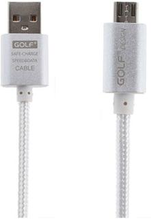 Golf Wovrn Metall 1 Meter Micro USB Data Kabel - Sølv
