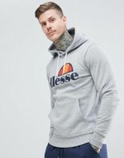 ellesse Hoodie With Classic Logo in Grey - Grey