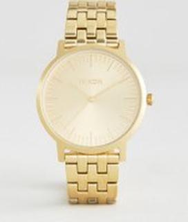 Nixon Porter Stainless Steel Bracelet Watch In Gold - Gold