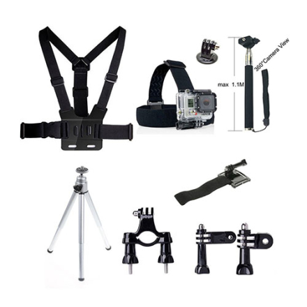9 i en Tilbehør Kit for GoPro Hero