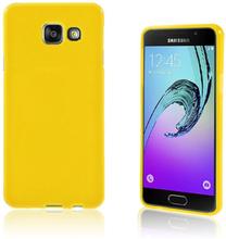 Solid Jelly TPU deksel for Samsung Galaxy A3 SM-A310F (2016) - gul