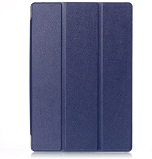 Tri-fold Dell Venue 10 Pro 5055 Leather Case - Dark Blue