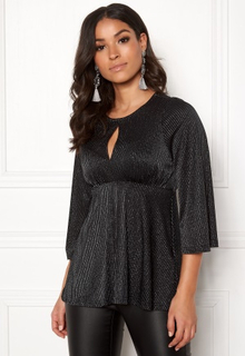 Happy Holly Zahra lurex top Black 32/34