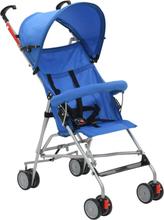 vidaXL Barnvagn hopfällbar stål blå