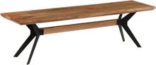 vidaXL Bänk massivt akaciaträ och stål 160x40x45 cm