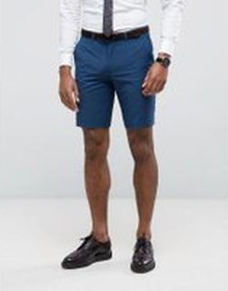 Farah - Blå shorts i extra smal passform - Blå