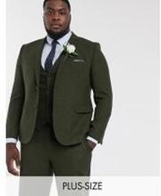 Harry Brown Plus – Bröllop – Kavaj i tweed, del av kostym-Grön
