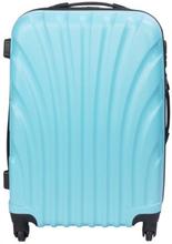 Mellem kuffert - Lyseblå hardcase kuffert - Eksklusiv rejsekuffert
