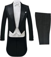 Vidaxl tvådelad kostym frack herrar strl. 56 svart