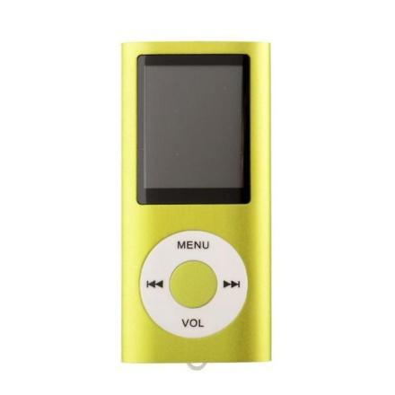 Slanke sig MP3-afspiller med TF kort og FM Radio støtte-grøn