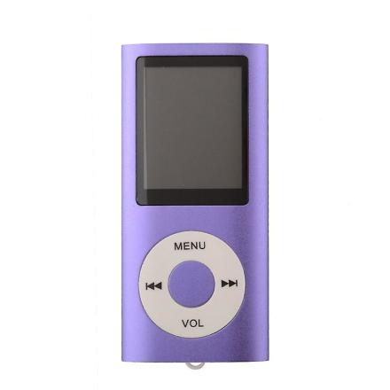Slanke sig MP3-afspiller med TF kort og FM Radio støtte-lilla