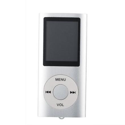 Slanke sig MP3-afspiller med TF kort og FM Radio støtte-sølv