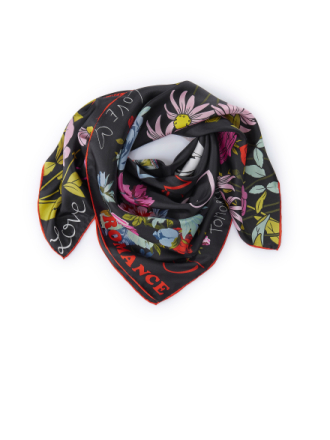 Scarf för kvinnor i 100% silke från Codello svart