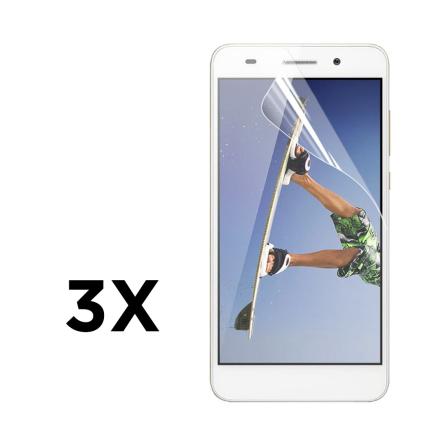 3-pk Enkay klar HD PET skjermbeskyttende film for Huawei Y6 II