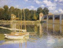 The Bridge At Argenteujil,claude Monet,60x40cm