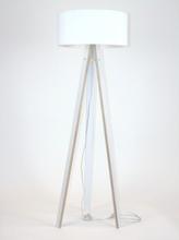 WANDA Stehlampe 45x140cm - Weiß / Weiß Lampenschirm