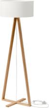 TALES Eschenholz Stehlampe - Weiß Lampenschirm