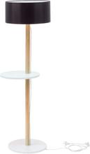 UFO Stehlampe 45x150cm - Weiß / Schwarz Lampenschirm