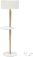 UFO Stehlampe 45x150cm - Weiß / Weiß Lampenschirm