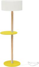 UFO Stehlampe 45x150cm - Gelb / Weiß Lampenschirm