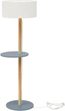 UFO Stehlampe 45x150cm - Dunkelgrau / Weiß Lampenschirm
