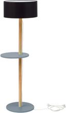 UFO Stehlampe 45x150cm - Dunkelgrau / Schwarz Lampenschirm
