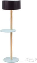 UFO Stehlampe 45x150cm - Hellgrau / Schwarz Lampenschirm
