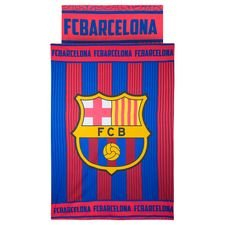 Barcelona Sengetøj Logo - Rød/Blå