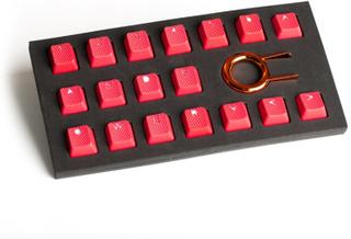 18-Key Gummi Double-shot Bakgrundsbelyst Keycap-set - Röd