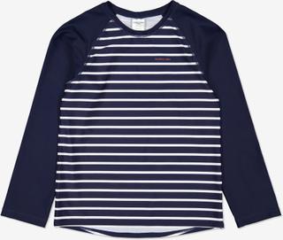 Stripet uv-trøye mørkblå 122 128