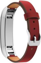 Fitbit Alta erstatningsreim av ekte lær - Rød