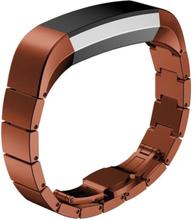 Fitbit Alta erstatningsreim av rustfritt stål - Brun