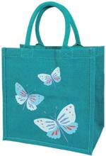 Jute Shopper Taske Butterflies