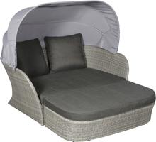 Bird loungemøbel elskovsrede, inkl. hynder og puder, grå/sort.