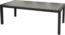 Garp havebord, inkl. 2 tillægsplader 223-343 cm sort/grå.