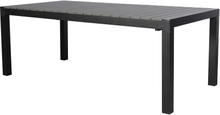 Ferl havebord, inkl. 1 tillægsplade 205/275 cm sort/grå.